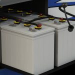What should I do if the RV battery charge is low?