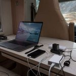 How can I charge my laptop during my RV Trip?