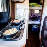 Can I cook in RV while driving?