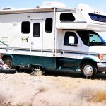 What happens if there is a flat tire during the rental RV Trip?