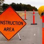 Do constructions zones feel claustrophobic when I drive a rental RV?