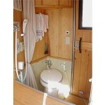 Can I use restroom when the rental RV is moving?