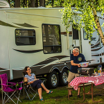 What kind of a RV Campsite should I book, partial or full?
