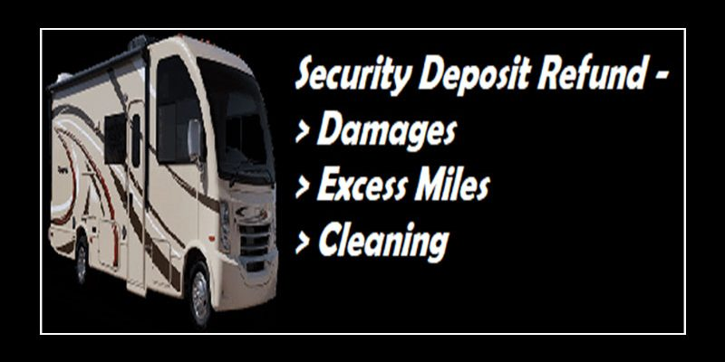 What is charged before I get my RV rental security deposit back?
