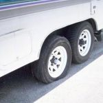 What should I do if Rental RV has a flat tire?