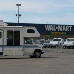Can I park my rental RV overnight at a Walmart Parking lot?