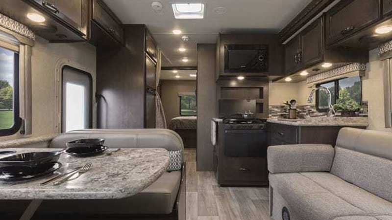 cooking range in a rental RV