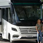 How many people can travel in the rental RV?