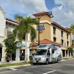 Can I park my rental RV in a hotel parking lot?