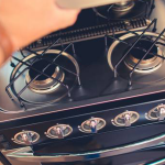 How does rental RV's cooking range work?