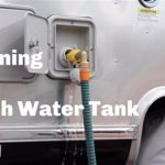 I filled up the rental RV's fresh water tank too much, how do I drain water?