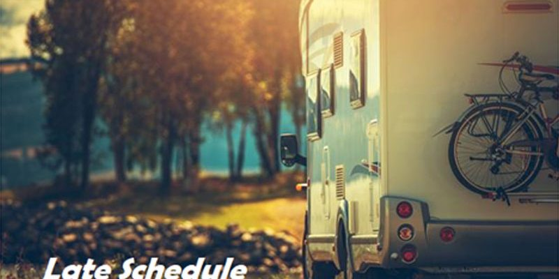 Can I return the RV later than its scheduled drop-off time?