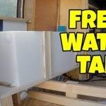How do I check the water in rental RV's fresh water tank?