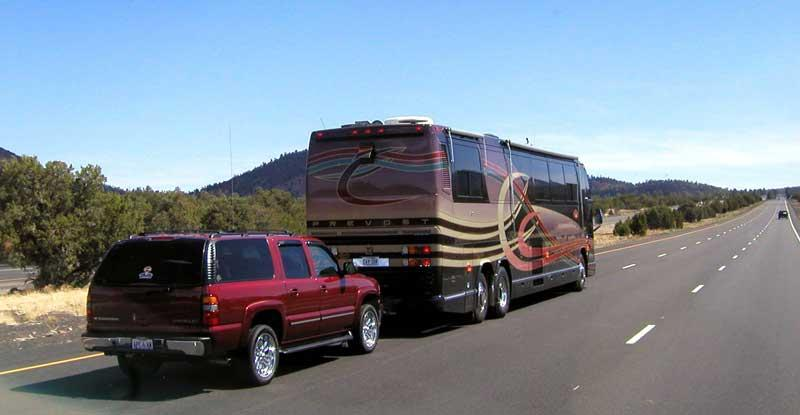 tow your car behind your rental rv