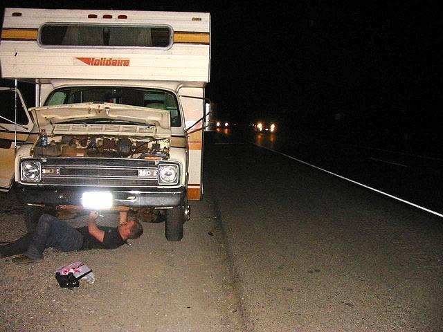 RV Equipment Breakdown During RV Rental Trip